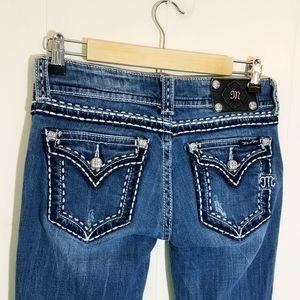 Miss Me Flap Pocket Bootcut Jeans